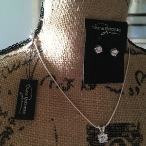💚2 for $15 Diane Katzman Necklace and Earring Set